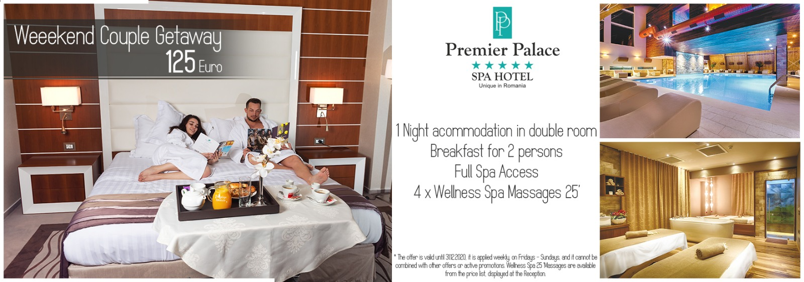 Weekend Couple Getaway 2020 Premier Palace Spa Hotel Couple Offer